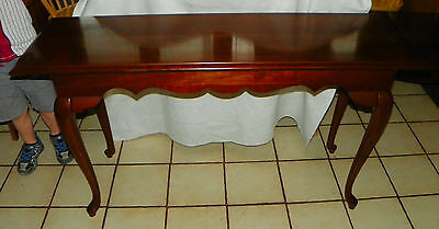 Solid Cherry Sofa Table / Entry Table by Ethan Allen  (T552)