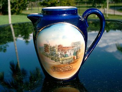Rolling Chairs Boardwalk Atlantic City  Porcelain Small Pitcher Made in Germany