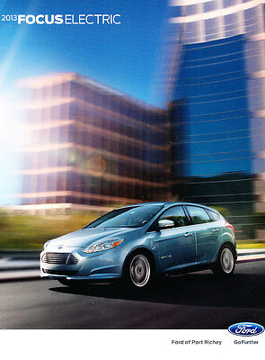 2013 Ford Focus Electric 20-page Auto Car Sales Brochure Catalog