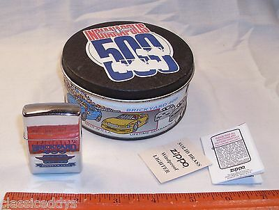 Zippo Nascar Brickyard 400 Indy Chrome August 5Th 1995 Lighter Boxed