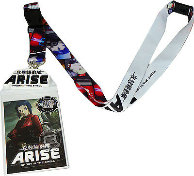 Ghost In The Shell Arise Lanyard Sticker ID Badge Holder & Charm New Official