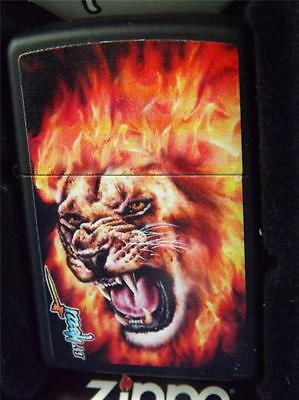 Zippo Mazzi Artist Collector Lighter Flame Lion Flaming New Gift Box