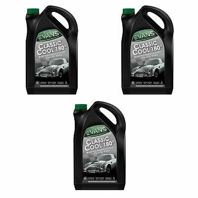 Evans Classic Cool 180 Waterless Engine Coolant - 3 x 5 Litres (15 Litres)