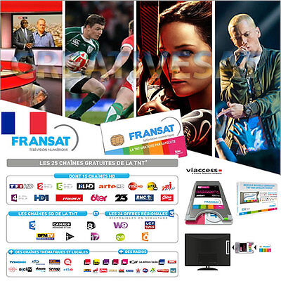 Fransat HD Official DVB CI+ CAM Module and Viewing Card Bundle x French TV!!