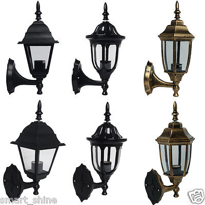 Vintage LED Outdoor Garden Wall Mounted Light Lantern Lamp / SMD GLS Candle Bulb
