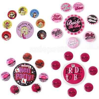 8pcs/Set Bride To Be Hen Night Accessories Badge Brooch Bachelorette Party Favor