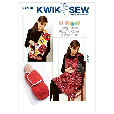 Kwik Sew Sewing Pattern Baby Sling Carrier Nursing Cover & Swaddler K3734