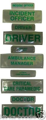 Encapsulated Reflective Paramedic Doctor Ambulance Medic Sew Chest Back Patch