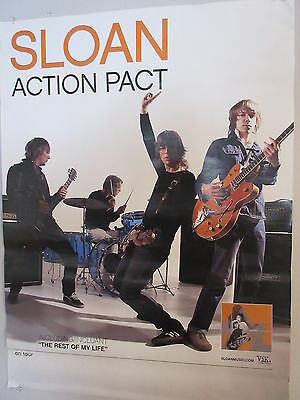 2003 Sloan Action Pact Record Store Promotional Poster