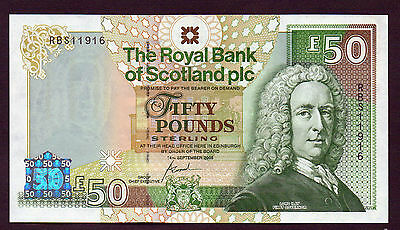 Commemorative  £5O NOTE from the ROYAL BANK unc  RBS