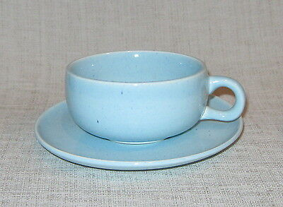 Steubenville Russel Wright Glacier Blue Cup and Saucer