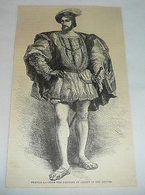 1877 magazine engraving ~ FRANCIS I ~ King Of France