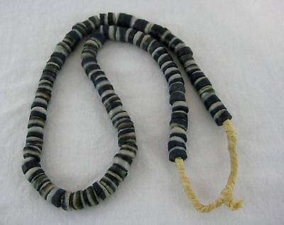 Old West African Antique Krobo Powder Glass Trade Bead Necklace