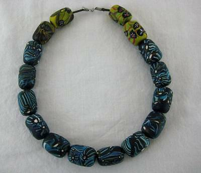 Vintage African Venetian Glass Trade Beads Chunky Choker Necklace