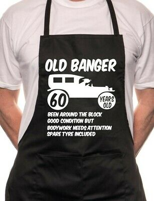 60th Birthday Old Banger BBQ Cooking Funny Novelty Apron