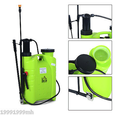 HOMCOM 16L Backpack Poly Sprayer Gardening Pump Sprayer Pest Control Equipment