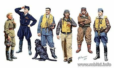 Master Box 1/32 Scale Plastic Model Kit Famous Pilots Of Wwii Mb3201