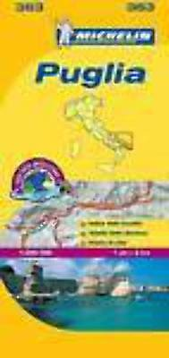 Michelin Map 363 Puglia Italy Local Road and Tourist