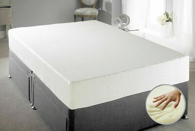 "Memory Foam Mattress Reflex Orthopaedic 4Ft6 Double Or 5Ft King  6"" 8"" 10"" 12"""