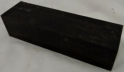 Gabon Ebony Hardwood Blank For Knife Making Woodworking Game Calls Inlays Timber