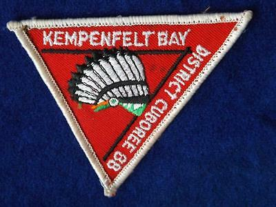Boy Scouts Kempenfelt Bay District 1988 Cuboree Cubs Patch Collector Badge