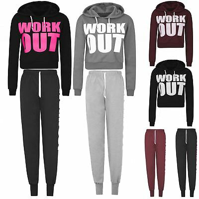 Womens Ladies Butterfly Hoodie Tracksuit Top Jog Jogging Bottoms Trousers SMLXL