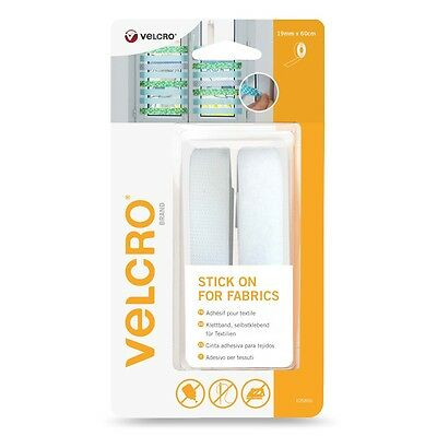 VELCRO® Brand Stick on Self Adhesive Strip of Tape for Fabric 19mm X 60CMs