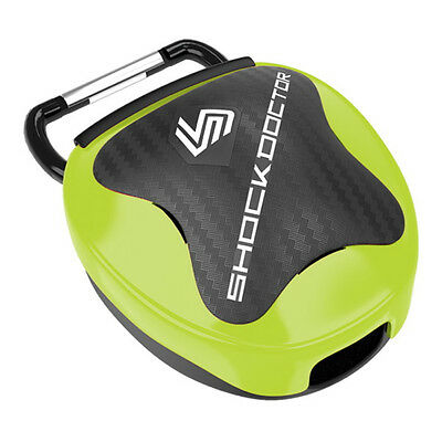 Shock Doctor Heavy Duty Anti-Microbial Ventilated Mouthguard Case, Shock Green