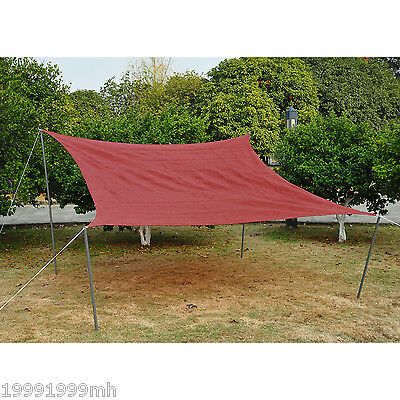 Outsunny Sun Sail Shade 12ft UV Top Canopy Cover Patio Pool Garden Square