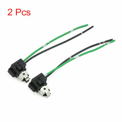 2 Pcs H1 H3 Fog Lamp Light Bulb Socket Wiring Harness Connector for Car Auto