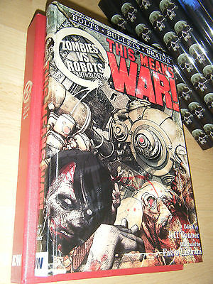 ZOMBIES VS ROBOTS : THIS MEANS WAR! 1st/HB SGN/LTD MINT IDM Publishing Slipcased