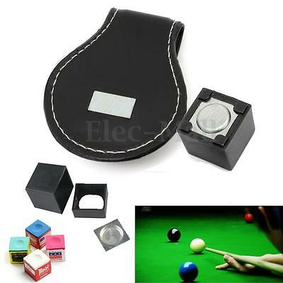 1PC Black Magntic Pool Cue Chalk Holder with Belt Clip Billiard Snooker Table