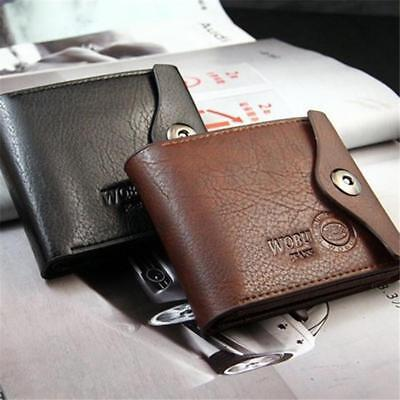 Chic Mens Retro Bifold Wallet PU Leather Credit / ID Card Holder Slim Purse H