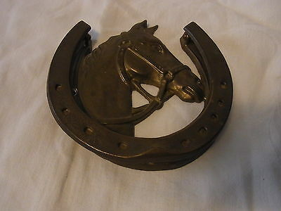Vintage German Brass Horse Door Knocker #BI
