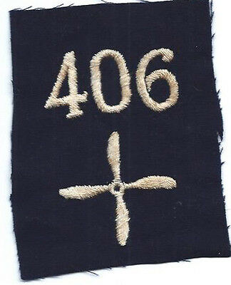 WWI 406th Aero Squadron Enlisted Patch