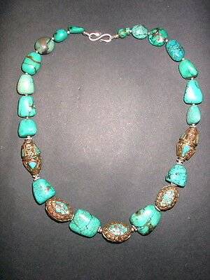 Magnificent antique Turquoise necklace - 19th Century