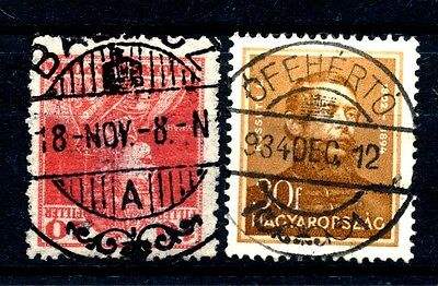 No: 45181 - HUNGARY - LOT OF 2 OLD STAMPS - NICE CANCELS!!