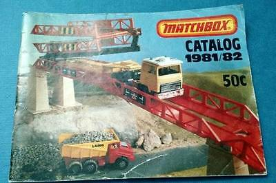 Matchbox Catalog 1981/82 Small Booklet Illustrated