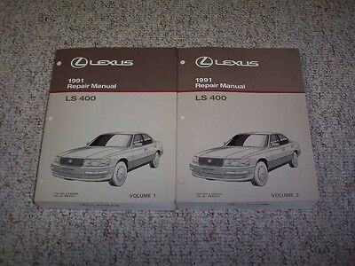 1991 Lexus LS400 LS 400 Factory Workshop Shop Service Repair Manual Set Vol 1-2