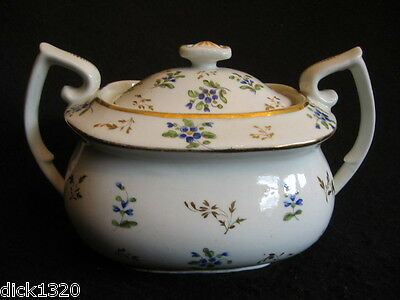 GEORGE III CHAMBERLAIN WORCESTER LIDDED SUCRE/SUGAR BOWL HAND-PAINTED c1820's EX