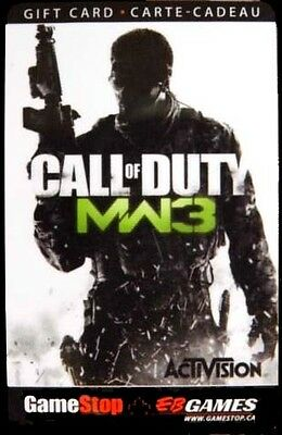 EB Games CALL OF DUTY - MW3 collectors gift card Gamestop