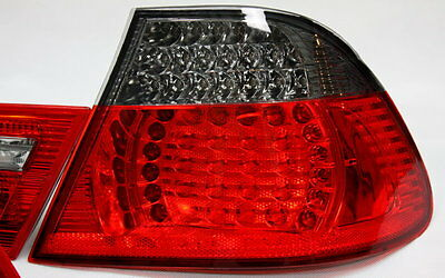 LED RÜCKLEUCHTEN SET BMW E46 3er COUPE 99-03 ROT SMOKE ABGEDUNKELT + LED BLINKER