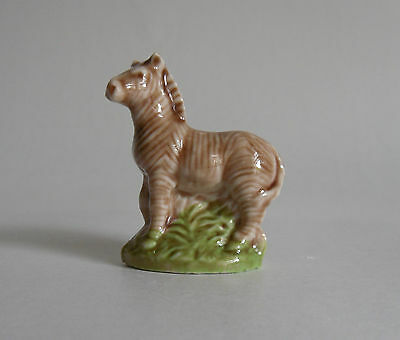Vintage 1960s Wade Whimsie Collectible. Zebra in the Tall Grass.