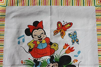Disney Bassetti Italy MICKEY MINNIE Mouse Pluto 70er True Vintage Picknick Tuch