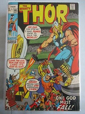 Mighty Thor Vol. 1 (1966-2011) #181 FN/VF UK Price Variant