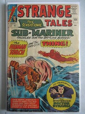 Strange Tales Vol. 1 (1951-1976) #125 VG- UK Price Variant