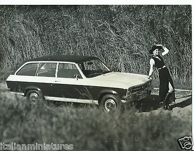 Opel Rekord D Estate Glamour Girl 1970's Fashion Photograph