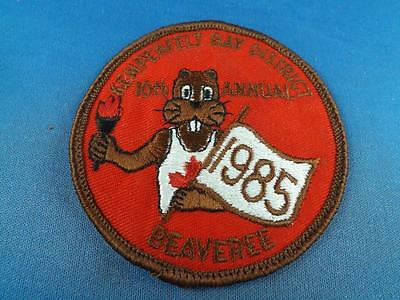 Boy Scouts Kempenfelt Bay District 1985 Beaveree Beaver Patch Collector Badge