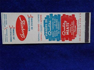 Steinberg's Grocery Store Quality Meat Quebec Canada Vintage Matchbook
