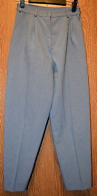 Womens Blue Studio Works Pleated Dress Pants Size 6 very good